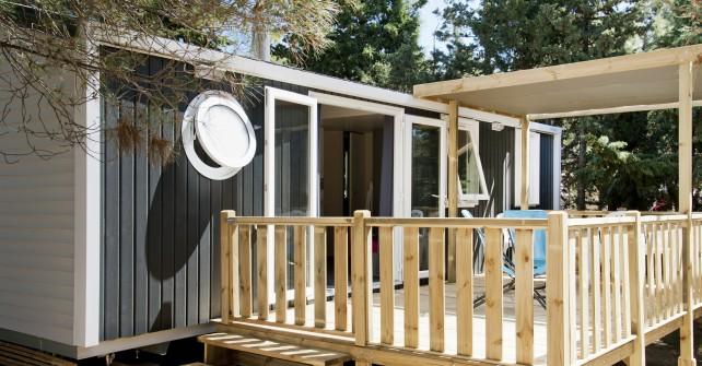 MOBILE  HOME  3  slaapkamers  bergzijde  (6  pers.)  model  2014