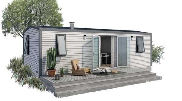 MOBILE  HOME  PALACE  2  slaapkamers  bergzijde  (4/6  pers.)  model 2019